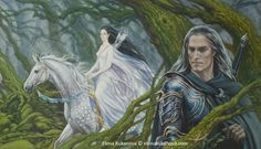 Destiny by ekukanova Aredhel & Eol Illustration for Silmarillion by Tolkien