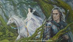 Destiny by ekukanova Aredhel & Eol Illustration for Silmarillion by Tolkien