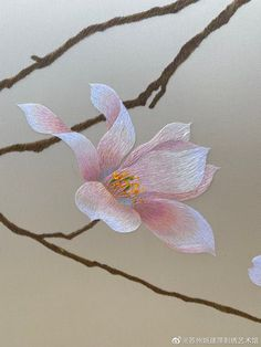 Chinese Embroidery, Hand Embroidery Flowers, Hand Embroidery Stitches, Beaded Embroidery, Embroidery Patterns, Thread Painting, Silk Painting, Fibre And Fabric, Embroidery Fashion