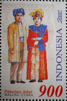 Stamps, covers and postcards of traditional/folk costumes: Stamps / Costumes - Indonesia / Indonezija
