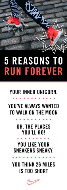 5 REASONS TO RUN FOREVER // Looking for inspiration to go the distance? We've got it on the Front Row by NikeWomen.