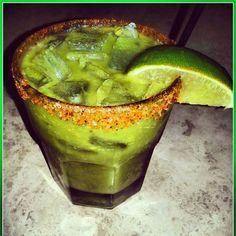 El Aguacate-  Alma de Agave tequila blanco  fresh avocado  lemon thyme syrup  fresh lime juice  rim glass with salted chili powder
