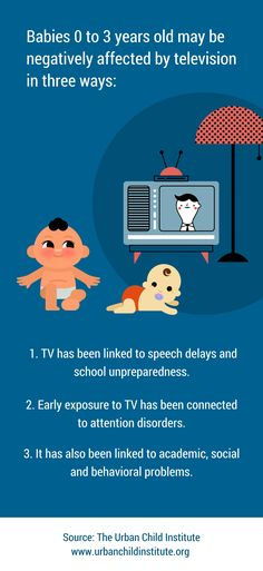 Babies 0 to 3 years old may be negatively affected by television in three ways: Speech Delay, Conflict Resolution, Third Way, 3 Years, Infographics, Behavior, Preschool, Family Guy, Babies