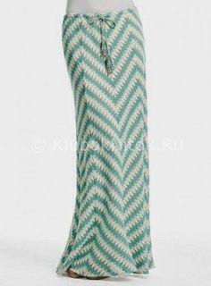Юбка макси зигзагом   Вязание для женщин   Вязание спицами и крючком. Схемы вязания.
