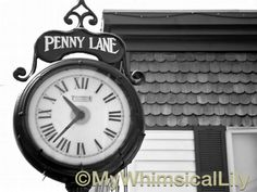 RTS Penny Lane Clock 8 x 10 photograph Beatles by MyWhimsicalLily