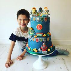 Lego Nexo Knights Birthday Cake