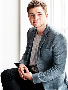 Taron Egerton - I may have a little bit of a celebrity crush on this guy. Welsh British