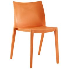 Gallant Dining Side Chair Contoured Back Accent Chair in Orange