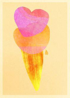 Love scoops bright card by samlovesherdog, via Flickr