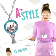 Start the school year off right with an A+ in style! Coming soon... Origami Owl Lockets for the workplace! #origamiowl