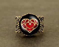 life Zelda heart container Adjustable Ring legend of by touchtime, $4.99