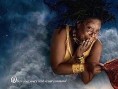 Whoopi Goldberg as the Genie