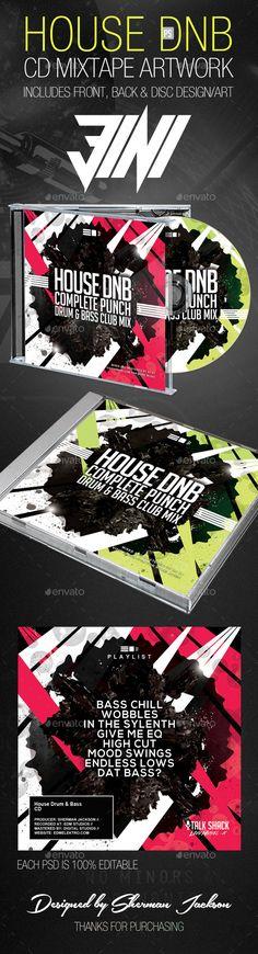 House Drum n Bass CD Artwork Template