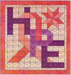 Cancer Awareness Craft Patterns   Hope Cancer Awareness Quilt Pattern, Alphabet Soup Patterns by AD ...