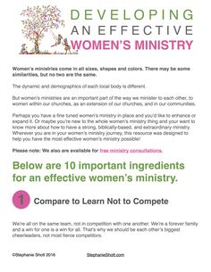 WomenS Ministy Help Form  Womens Ministry    Ministry