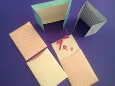 Crafted envelopes and simple printed invitations