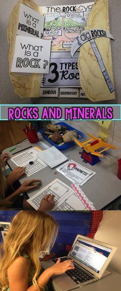 Rocks and Minerals Lap book and Lab Report unit great for 2nd grad, 3rd grade, 4th grade, 5th grade.  Science unit.  Scissors and Crayons