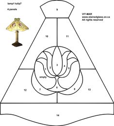 free stained glass pattern-Lamp vit-mar