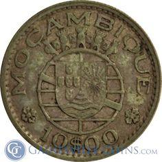 Mozambique 10 Escudos Silver Coin
