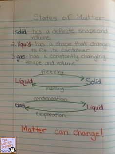 The Science Penguin: States of Matter Notes