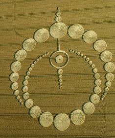Crop circles | Crop-circle d'Etchilhampton près de Devizes, Wiltshire. Signalé…