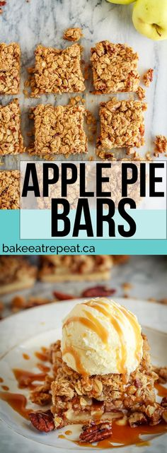 These easy to make bars have a shortbread crust, a cinnamon crumb topping and an amazing apple pie filling - the perfect fall dessert!
