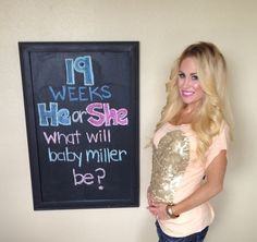 The Sweet Little Southern Charm by Tara Miller: Pregnancy Chalkboard Tracker