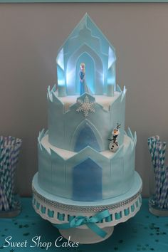 21 Disney Frozen Birthday Cake Ideas and Images Elsa castle