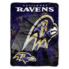 NFL Baltimore Ravens 46-Inch-by-60-Inch Micro-Raschel Blanket, Grunge Design by Northwest. $16.26. Cuddle under this warm and soft Micro Raschel Blanket by The Northwest Company.  Blanket measures 46-inches-by-60-inches and is made of 100% polyester.  Officially licensed team graphics are bold and attractive.