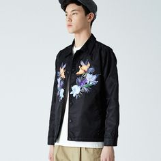 [ES. NOCTURNE] 2016 S/S HOOK SNAP FLOWER COACH JACKET