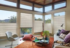 Hunter Douglas Alustra window shadings with the top-down/bottom-up feature…