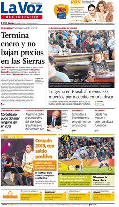 En la tapa de hoy: Cosquín y Carlos Paz, más caros en 21 días.