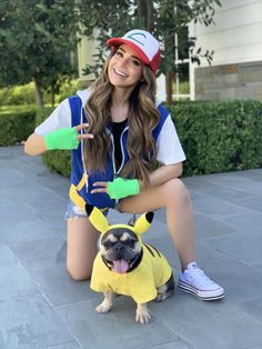 Rosanna Pansino as 'Ash' and Blueberry Muffin as 'Pikachu' from Pokémon