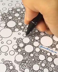 Doodle Art Drawing, Zentangle Drawings, Mandala Drawing, Pencil Art Drawings, Cool Art Drawings, Art Drawings Sketches, Zentangles, Doodle Art Designs, Doodle Patterns