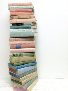 Vintage and Shabby Chic Books for Wedding by beachbabyblues, $100.00