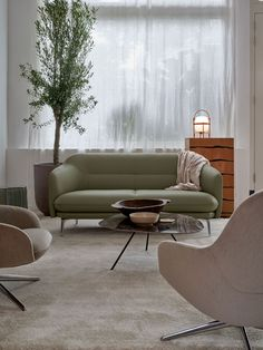 The Lindo sofa by Christian Werner for Leolux is a compact piece with soft rounded lines that fit perfectly in smaller spaces. Available as a 2, 2.5 and 3 seat sofa with a matching footstool. Shown with the Lanah armchairs and Liliom coffee table. #leolux #designfurniture #Interiors #DutchDesign #homeinspiration #HomeDecor #Design #interiordesign #designinspiration #interiordecor #dream_interiors #furniture #furnituredesign #interiorarchitecture #contemporaryfurniture #homeinterior Modern Furniture Stores, Contemporary Furniture, Outdoor Furniture Sets, Rolf Benz Sofa, Interior Decorating, Interior Design, Lounge Sofa, Interior Architecture, Small Spaces