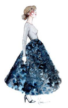 Katie Rodgers es la ilustradora y blogger tras la cortina de Paperfashion.