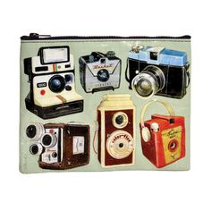 I just bought this: BlueQ Cameras Zipper Pouch