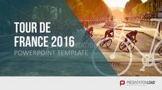 Free PowerPoint Template Tour de France 2016