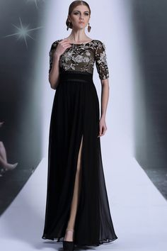 4600d99fbe Shop 2014 Athens Style Elegant Half Sleeve A Line Floor Length Dresses With  Slit 30968 Color Just As Picture Show Online affordable for each occasion.