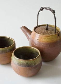 tea pot and cups * pottery Kiesel/ brandenburg/ germany Matcha Set, Asian Teapots, Ceramic Teapots, Ceramic Art, Tea Snacks, Kiesel, Teapots And Cups, Japanese Ceramics, Tea Accessories