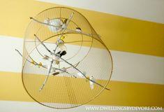 #DIY Birdcage Chandelier - #Nursery #NurseryDecor