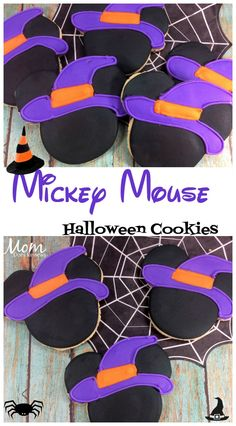 Mickey Mouse Witch sugar cookies #halloween #cookies #disney Mickey Halloween Party, Halloween Birthday, Disney Halloween, Halloween Treats, Halloween Decorations, Birthday Ideas, Mickey Mouse Treats, Mickey Mouse Art, Minnie Mouse