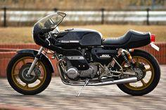 Another splendid Kawasaki Z1 900 on a Rickman frame.  Made in Japan by M-Engineering,  Fukuoka.