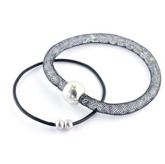 Tubular Mesh Cord filled with Czech glass beads with magnetic clasp - simple and effective!