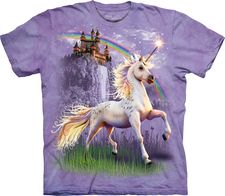 INTERESTPRINT Childs T-Shirt Unicorn Pony Head and Stars Rainbow Pegasus XS-XL