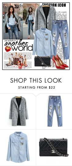 """""""Shein 3/XIII"""" by merima-p ❤ liked on Polyvore featuring Chanel and Salvatore Ferragamo"""