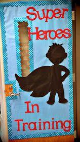 Queen of the First Grade Jungle: Superhero Classroom Door and a BIG freebie!