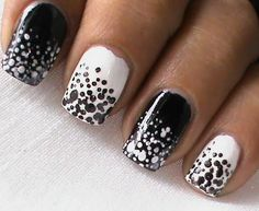 Black And White Nails - you currently can find these colors and tools to make the dots thru Avon - check the online brochure at www.youravon.com/vmahoney