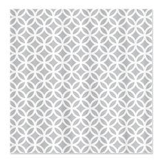 Light Gray Interlocking Circle Pattern Shower Curtain